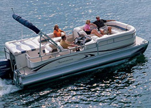 Page 1 of 29 new and used pontoon and deck boats for for Pontoon boat without motor for sale